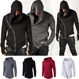 Wholesale assassin s creed slim hoodie resale online - ZOGAA New Men Hoodie Sweatshirt Long Sleeved Slim Fit Male Zipper Hoodies Assassin igan Creed Jacket Plus Size S XL
