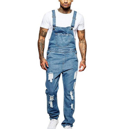 Wholesale overall men for sale - Group buy Men Denim Overalls Piece Full Length Ripped Jeans Jumpsuit Men Slim Casual Jeans Overalls Pants Pantalon Homme