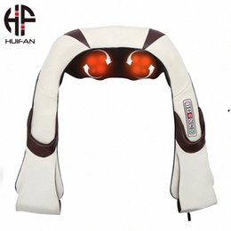 Discount shiatsu back massager with heat HUIFAN Shiatsu Neck & Back Massager with Heat Handheld Deep Tissue Muscle Massager for Car and Home Use KPMy#