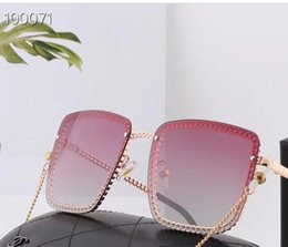 Discount sunglasses golden chain 20120new fashion large frame chain polarized sunglasses for men and women