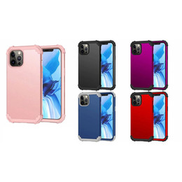 Discount defender case for iphone 11 Hybrid Layer Shockproof Heavy Duty Case For Iphone 12 Pro Max 12 Mini 12 Case Defender Armor Dual Hard PC+Soft TPU 3 in