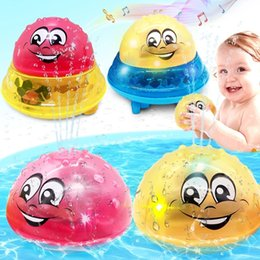 Bath Toys Spray Water Light Rotate with Shower Pool Kids Toys for Children Toddler Swimming Party Bathroom LED Light Toys Gift on Sale