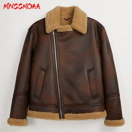 Wholesale faux fur lined parka coats for sale - Group buy Winter Men s Leather Jackets and Coats Fleece Lined Warm Parkas Thicken Thermal Faux Fur Overcoat Outerwear