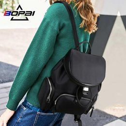 Discount tablet bags for women Bopai New Autumn Design Backpack Women Waterproof School Backpacks For Girls Ladies Tablets Shoulder Back Pack School Ba