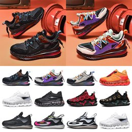 Discount cushioned basketball shoes Hot fashion mens sneakers running shoes Full palm cushion shock absorption purple black blue red grey split trainers size 40-45