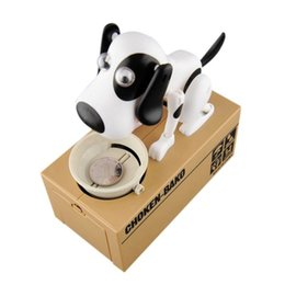 plastic dog banks 2021 - Hot Cute Small Dog Piggy Save Money Bank Saving Money Pot Coin Box Can Creative Gift Kids Birthday Gifts 201125