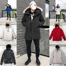 Wholesale womens hooded fur down jacket for sale - Group buy 2020 Mens Designer Womens Winter Coats Down Parkas Outerwear Hooded Windbreaker big fur ss Man Vest Down Jackets Coat Manteau Hiver