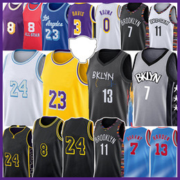 Los Angeles Brooklyn Nets Lakers LeBron 23 6 James 13 Harden 7 Kevin Kyrie 11 Durant Irving Basketball Jersey Kobe 24 8 Bryant Anthony Davis Earvin Johnson Biggie Shaquille O'Neal