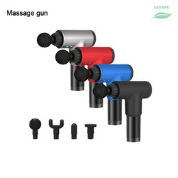 New Fitness Body Hand held Muscle Massage Gun Vibration Relax Recovery Deep Pressure Electric Therapy Pistolet on Sale