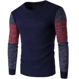 pull homme achat en gros de-news_sitemap_homeHomme occasionnel Vintage Patchwork Mix Couleurs Couleurs Pull à manches longues à manches longues Slim Slim Sweaters Pullovers Jumpers chaud XL XXL Y2029