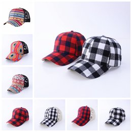 Discount plaid designer backpack Plaid Criss-Cross Hollow Out Baseball Cap Tartan Plaids Ponytail Ball Hat Women Mens Backpack Adjustable Mesh Patchwork Visor Caps RRA3816