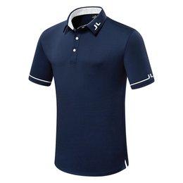 Yaz Yeni Erkekler Kısa Kollu Golf Gömlek JL Spor Giyim Açık Havada Spor Golf T-shirt Ücretsiz Kargo