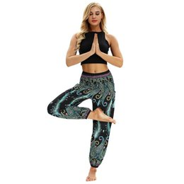 Wholesale thailand pants resale online - Thailand Nepal Travel High Waist Yoga Pants High Waist Slim Wide Leg Pants Wrapped Skin at Various Angles