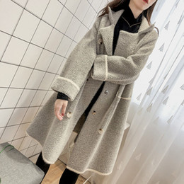 Wholesale knitted mink fur coat jackets for sale - Group buy 2020 New Fashion Faux Mink Fur Coats Autumn and Winter Jacket Loose Large Size Long Knit Cardigan Coat Female ThickeningX1016