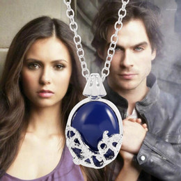 Discount vintage vampire pendants The Vampire Diaries Necklace Katherine Pendant Movie Vintage Jewelry for Women Elena Gilbert Necklace Verne Prairie1