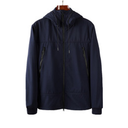 Wholesale blue coats for sale - Group buy topstoney spring and autumn loose style top mens Soft shell jacket coat Glasses hat Plush and thickened Plush and thicken