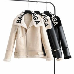 Wholesale embroidered women s jackets for sale – winter 2020 new ladies high quality jacket Luxury floral embroidered rivet zipper PU leather jacket slim slimming short coat women size s xl