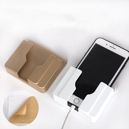 cell phone wall mount holder UK - Multifunctional Wall Mounted Holder Mobile Phone Charge Holder Smartphone Cell Phone Charging Bracket Holder Stable WQ521