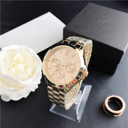 38.1MM Men's fashion watch sports style alphabet disc personality fashion steel band male Mens Sport Watches on Sale