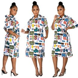 Wholesale long sexy hooded dresses for sale – plus size Ladies Letter Pattern Dress Fashion Occident Trend Sexy Long Sleeve Hooded Short Skirts Designer Autumn Female Loose High Waist Casual Dress