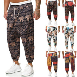 M-5XL Men's Stylist Pant Casual Style Hot Sell Men's Joggers Pants Track Pants Cargo Track Pant Trousers folk-custom Drawstring Waist Harem on Sale