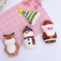 Wholesale trees roses for sale - Group buy Christmas Squishy Toy Santa Claus Snowman Xmas Tree Shaped Slow Rising Cream Scented Stress Relief Toy Novelty Gift Decor DHD2711