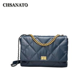 Discount lambskin bags CHSANATO High Quality Women Lambskin Shoulder Bag Fashion Designer Ladies Messenger Bags New Luxury Female Large Capacit