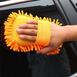 2020 Gelmesi Sıcak Oto Araba Sünger Yıkama Fırçası Mikrofiber Şönil Temizleyici Temiz Aksesuarları Ücretsiz Kargo Yeni Gelmesi
