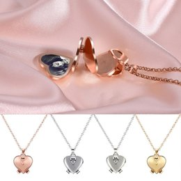 Discount heart shaped necklace gift box Choker Necklace Enlarge Photo Small Box Necklace Heart Shaped Creative Gift Jewelry Decoration Women Luxury Fashion