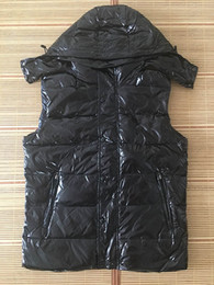 Wholesale vest hooded man down resale online - New Designer Men and women winter down vest Classic feather weskit jackets womens casual vests coat
