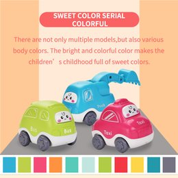 Wholesale 4 inch Cartoon Inertia car model Kid toys educational toys hot sell gift of the child