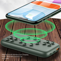 Wireless Charger Power Bank QC 3.0 PD Fast Charging External Battery Charger Power bank with Suckers For Xiaomi iphone Huawei Mobile