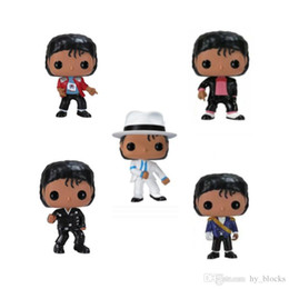Wholesale cartoons online – design Michael Jackson Action Figure Anime Figure Dolls BEAT IT BILLIE JEAN BAD Vinyl Fans Collection Cartoon Model Kids Toys Birthday Gift