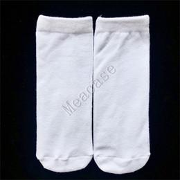 Wholesale thermal socks for men online – funny Sublimation White Socks Thermal Transfer Plain Blank Double sided Printed Stockings cm cm cm cm cm for Women Men Socks F102305