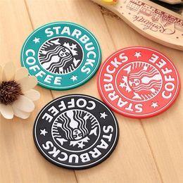 2021 US-Lager Neue Silikon-Untersetzer Cup Thermo Kissenhalter Tischdekoration Starbucks MEA-MAID Kaffee-Kaffee-Becher Matte im Angebot