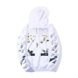 Wholesale off white men hoodie for sale – custom 19ss fashion off Hoodie ow white lettered graffiti Hoodie for men and womenINQ5