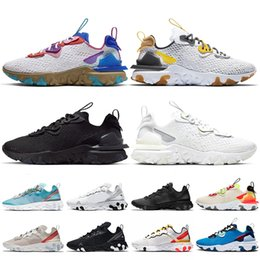 ingrosso discount-nike react vision New Store Discount Top Quality Epico Reagire Vision Donne Mens Running Shoes Reagire Element Triple Bianco Nero Giallo formatori Sneakers