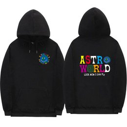 sweatshirts and hoodies NZ - Multicolor Streetwear ASTROWORLD HOODIES Sweatshirt Man and woman fashion letterLook MoM I Can FLy Hoodie Pullover X1022