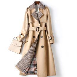 Wholesale new trench coat women european style resale online - New trench coat women Removable European and American style Women s new style windbreaker waist and thin temperament popular coat jacket