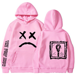 Wholesale Sad Face Print Sweatshirts Spring Autumn Mens Womens Solid Hoodies New Fashion Pullover Tops