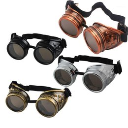welding goggle sunglasses Australia - 2020 New fashion Arrival Sunglasses Vintage Style Steampunk Goggles Welding Punk Glasses Cosplay Brand Five Colors Lens1
