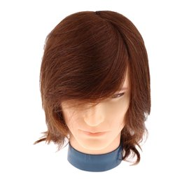 human hair mannequins UK - Male Mannequin Head with Human Hair for Barber Shops Styling Cutting Practicing