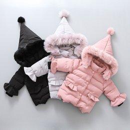 ** Baby Kids Toddler Girl Rose Fausse Fourrure de Lapin d/'Hiver à Capuche Chaud Manteau Veste **