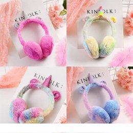Classical Unicorn Ear Muffs Winter Warmer Cartoon Thicken Plush Earcap Gradually Changing Color Earmuffs Soft Hot 16 5yj Ww