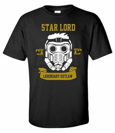 Одежда Star Lord Legendary Outlaw Superhero Movie Black Mens T Shirt 7945