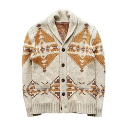 Wholesale long christmas cardigan sweater resale online - Men Winter Casual Sweater Print Christmas Sweater Cardigan Warm Fashion Cardigan Male Sweaters Heated Jacket Coat Tops
