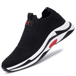 Wholesale Yulun new flying weave streamlined design casual shoes breathable running shoes versatile fashion comfortable casual shoes