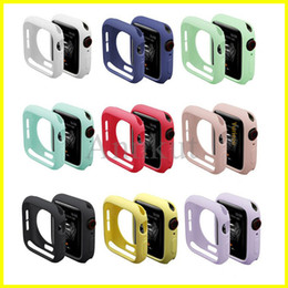 Watch Silicone Case,Soft cover for Apple Watch iWatch Series 1 2 3 4 Cover Full Protection Cases 42mm 38mm 40mm 44mm Band Accessories on Sale