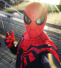 Wholesale cosplay custome online – ideas Sunglasses Cosplay Costume Lycra Spandex Haloween Custome Zentai suit Swimming GYM Bodysuit Jumpsuits for Adult Kids