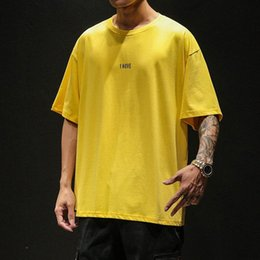 long oversized t shirt mens Canada - 2020 Summer New T Shirt Men Casual Loose Mens T Shirts Cotton Breathable Oversized T Shirt Korean Clothes Hip Hop Men Clothing 5jbJ#